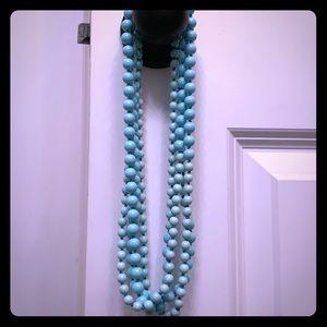 Premier Designs Long beaded Aqua Necklace